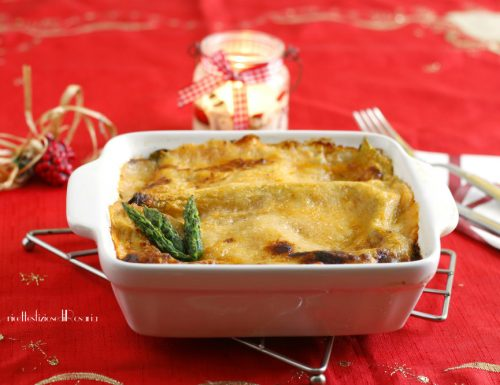 Lasagna asparagi e salmone leggera