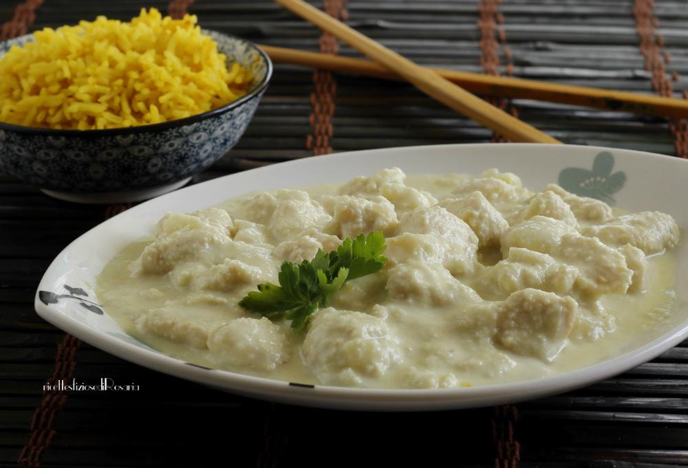 pollo al cocco con riso speziato