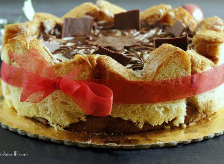 Torta pandoro nutella e mascarpone