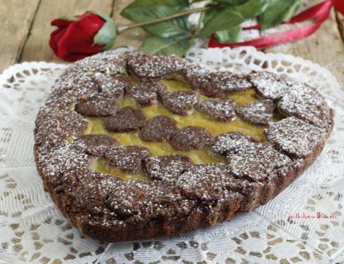 Crostata al cacao e crema clementine