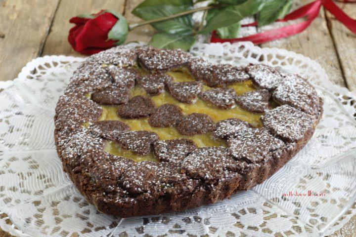 crostata al cacao e crema