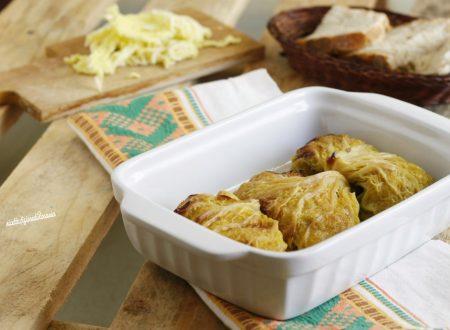 Fagottini verza salsiccia e patate