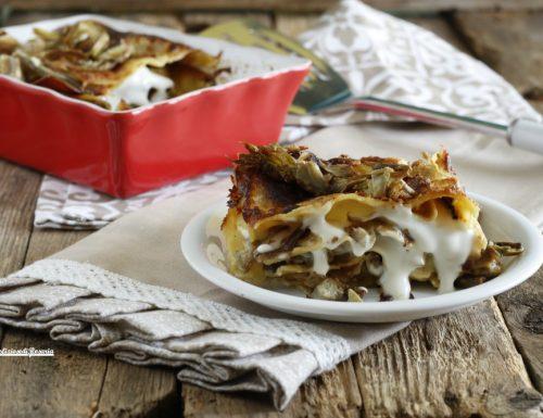 Lasagna carciofi e pecorino