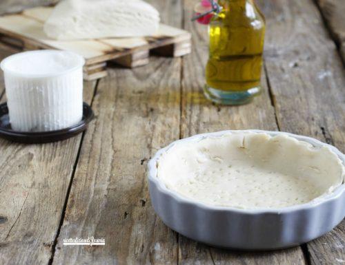 Pasta brisé senza burro con ricotta