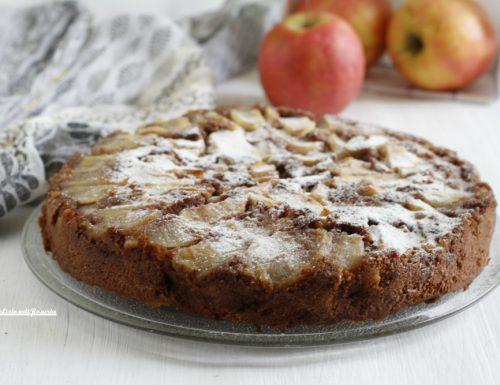 Torta di mele rovesciata al cacao e cannella
