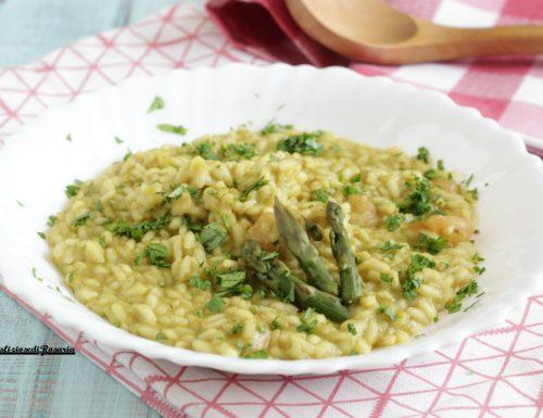 Risotto crema asparagi e gamberetti