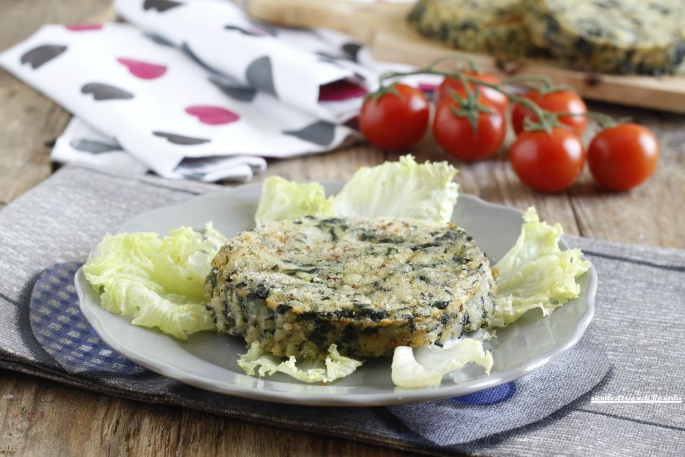 medaglioni patate e spinaci