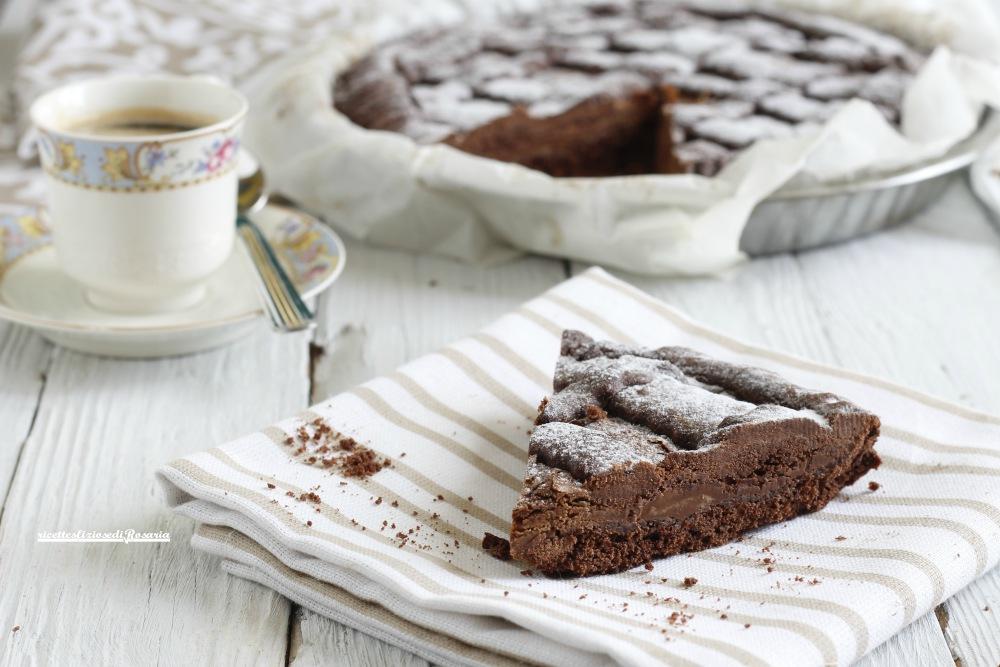 crostata al cacao con nutella
