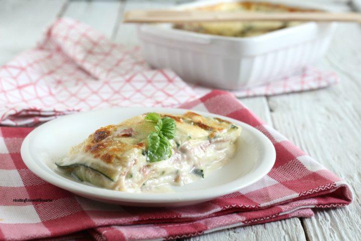 parmigiana di zucchine in bianco
