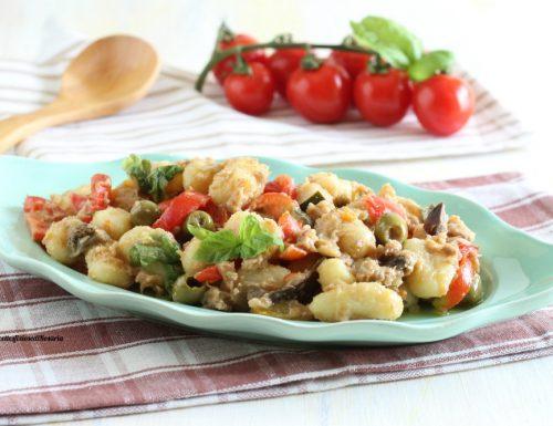 Gnocchi freddi verdure e tonno