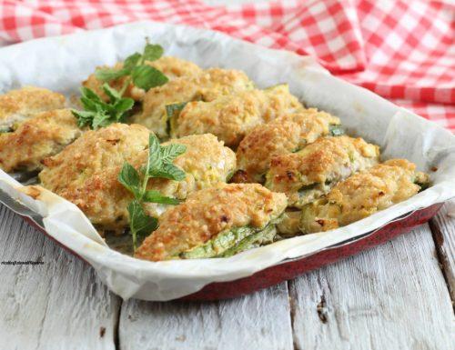 Barchette di zucchine con pollo