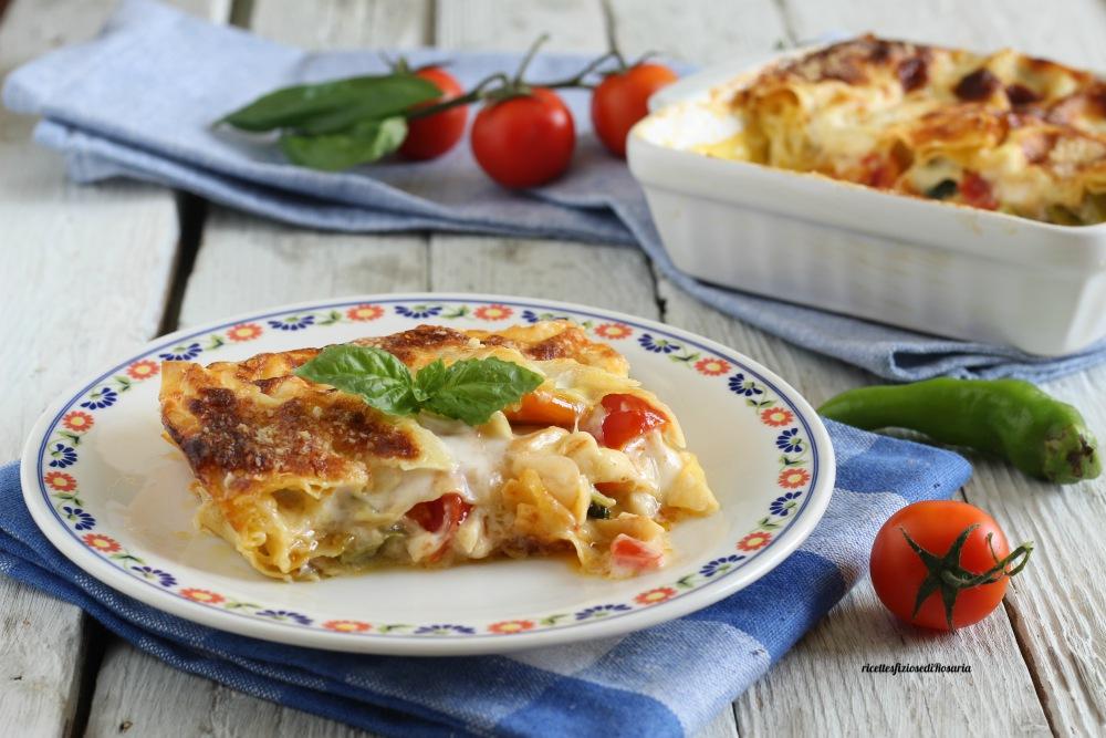 lasagne in bianco con friggitelli