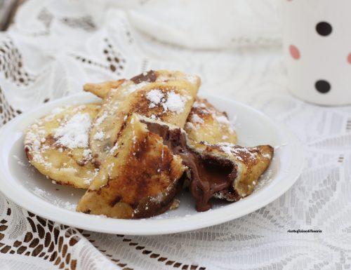 Ravioli di pane con nutella