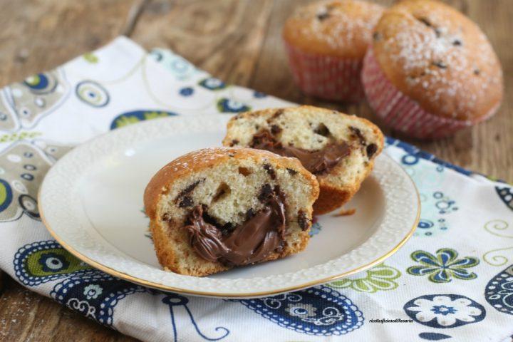muffins con nutella