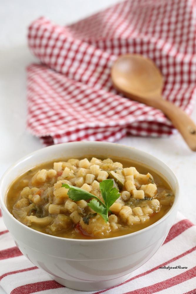 minestrone di verdure con pasta