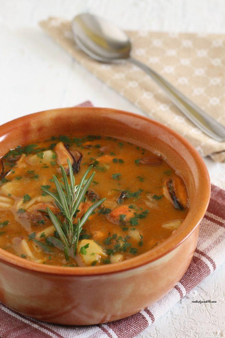 minestra cozze fagioli