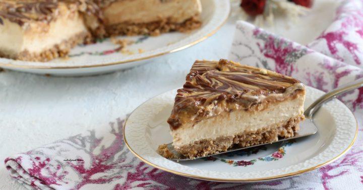 cheesecake caramello e cioccolato