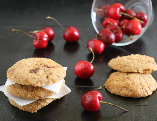 Cookies ciliegie e muscovado