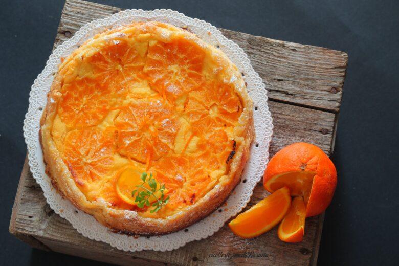 crostata arance e crema di ricotta