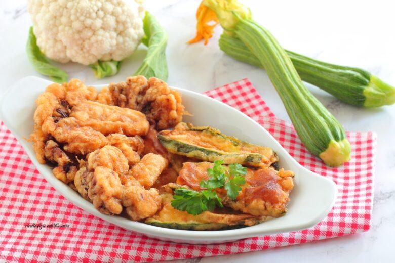zucchine e cavolfiore fritti dorati