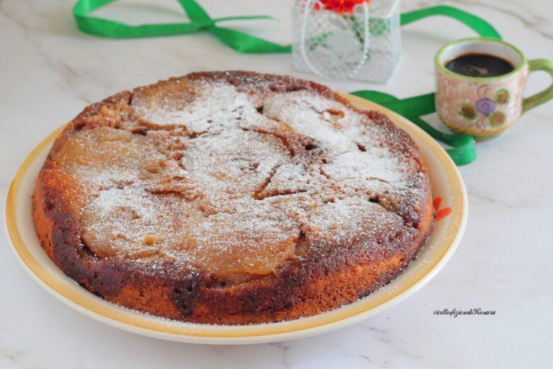 torta di pere e cocco rovesciata
