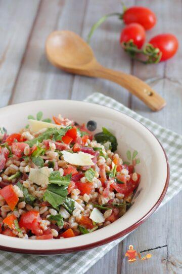 insalata farro speck e rucola