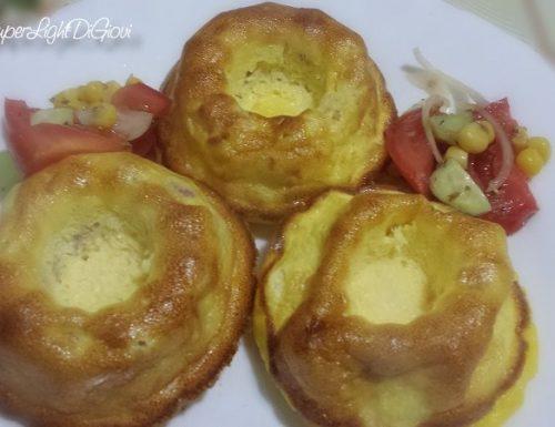 Tortini salati light, con prosciutto e ricotta (125 calorie l'uno)
