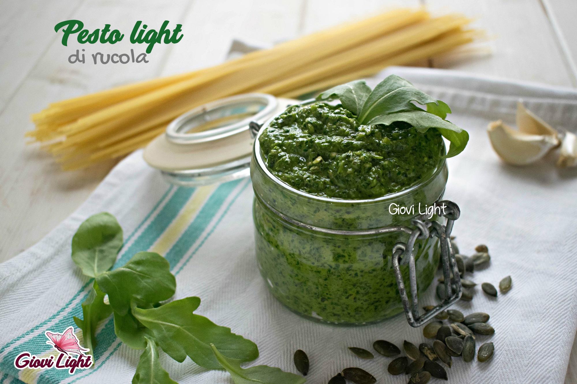 Ricetta Pesto Light.Pesto Light Di Rucola Con Il Bimby E Senza Giovi Light