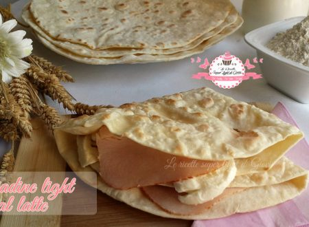 Piadine light al latte