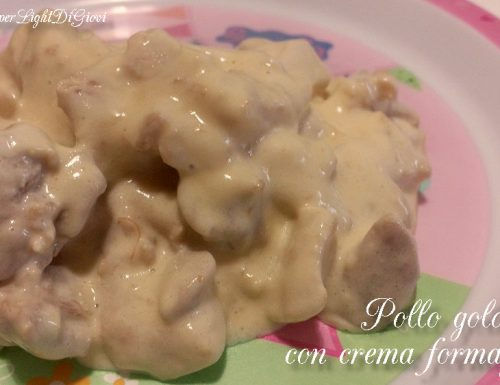 Pollo goloso con crema formaggiosa – ricetta per i più piccoli.
