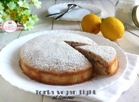 Torta vegan light al limone