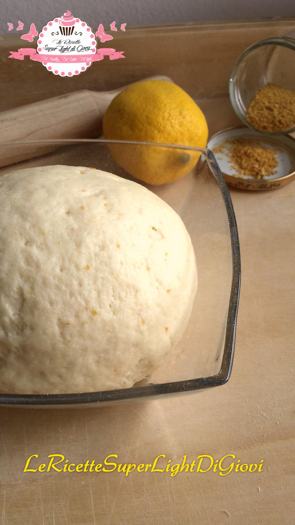 Pasta frolla light al limone