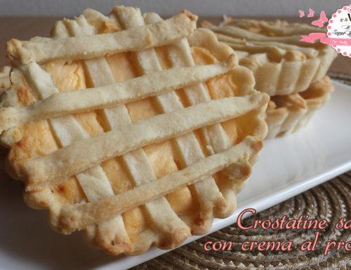 Crostatine salate con crema al prosciutto (213 calorie al pezzo)