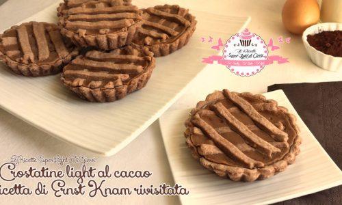 Crostatine light al cacao, ricetta di Ernst Knam rivisitata (229 calorie l'una)