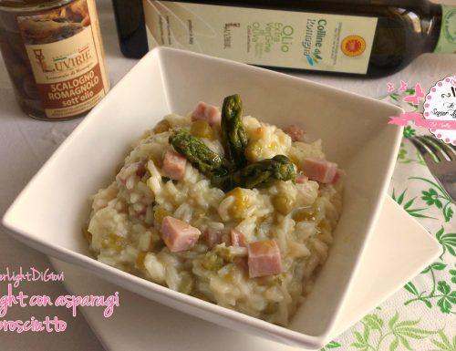 Risotto light con asparagi e prosciutto (384 calorie)