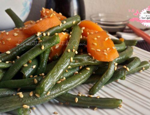 Fagiolini con carote al sesamo – ricetta cinese (146 calorie)