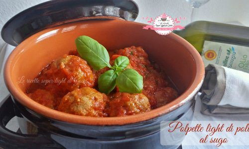 Polpette light di pollo al sugo