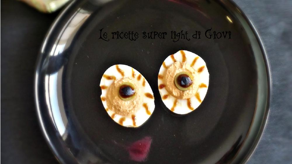 Occhietti spaventosi light (100 calorie)