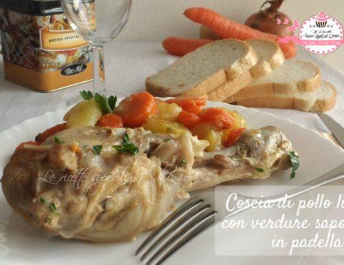 Cosce di pollo light con verdure saporite in padella (340 calorie)