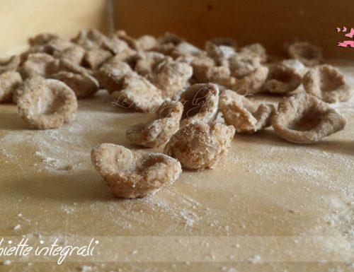 Orecchiette lntegrali (320 calorie)
