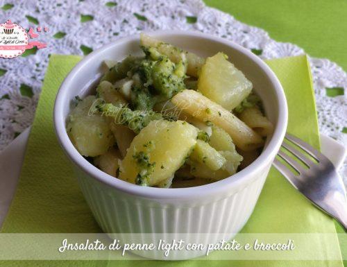 Insalata di penne light con patate e broccoli (320 calorie)