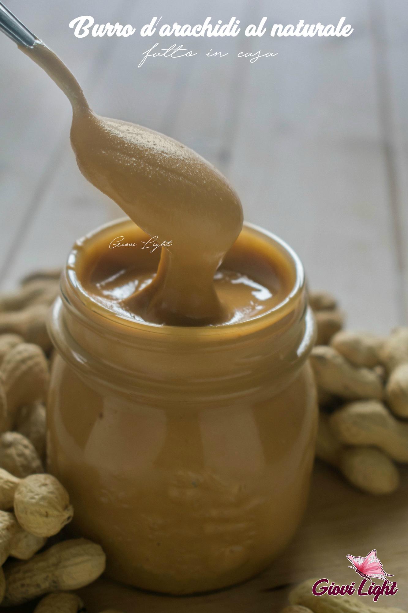 Burro d'arachidi al naturale fatto in casa