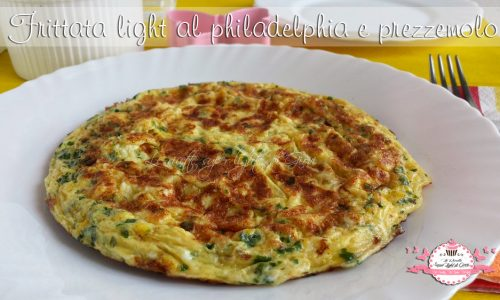 Frittata light al philadelphia e prezzemolo (209 calorie)