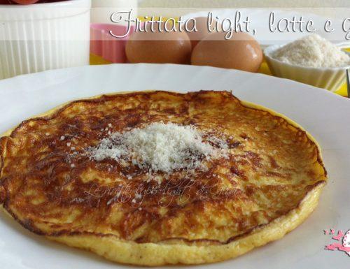 Frittata light, latte e grana (210 calorie)