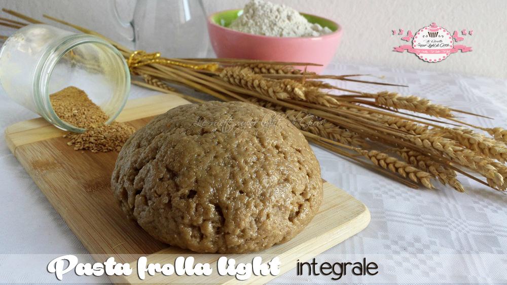 Pasta frolla light integrale (350 grammi - 945 calorie)