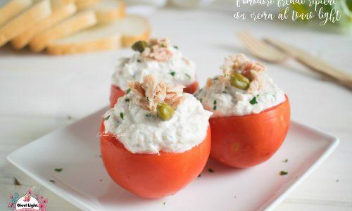 Pomodori freddi ripieni con crema al tonno light