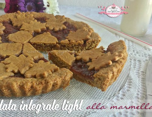 Crostata integrale light alla marmellata