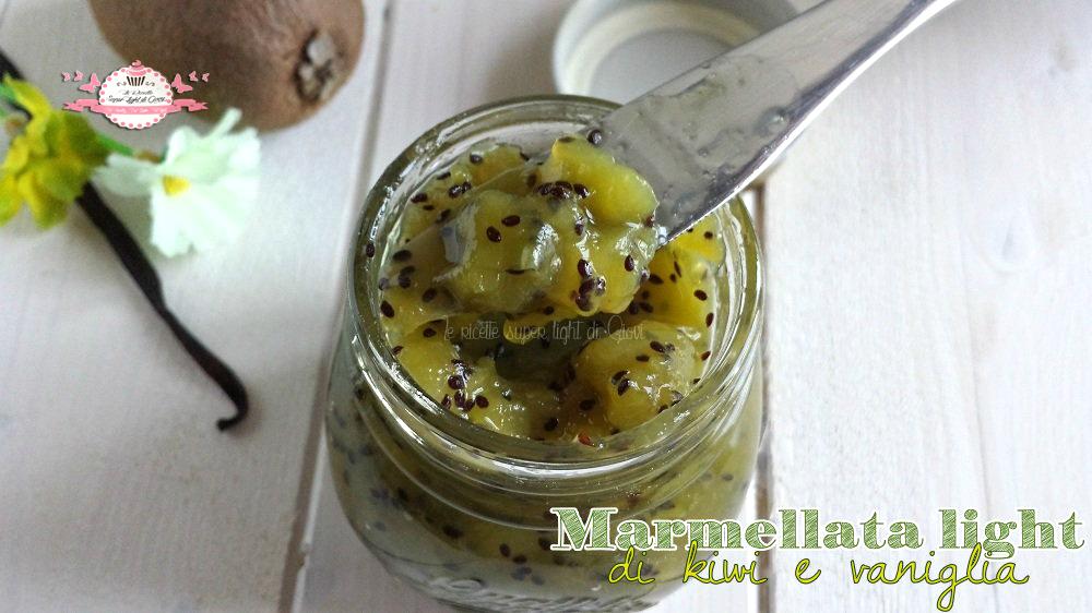 Marmellata light di kiwi e vaniglia
