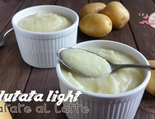 Vellutata light di patate al latte (210 calorie)