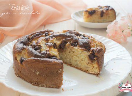 Torta light pere e cioccolato